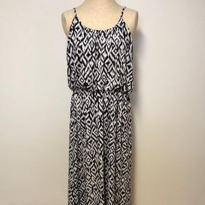 Aztec blouson knit maxi dress